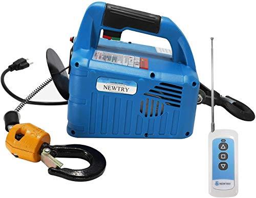 NEWTRY 1102LBS Elektrische Seilwinde Elektrischer Hebekran 220 V, 7.6 m, 1500 W, kabellose Fernbedienung, Überkopfhebung, Überlastschutz (Traglast 500KG)