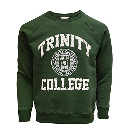 Traditional Craft Ltd Trinity College Seal Sweatshirt für Herren in Flaschengrün (X-Small)