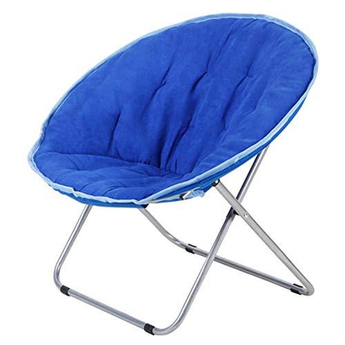 Taburete de bar, sillón de ocio perezoso, sillón reclinable de jardín en el balcón de la casa, gamuza Aspecto corto de felpa, plegable, con respaldo, comodidad sedentaria/D / 76cm