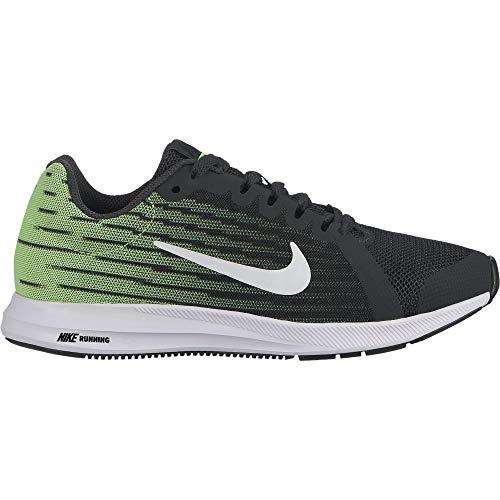 Nike Boy's Downshifter 8 Anthracite/White/Lime Blast/Black, 5 Big Kid