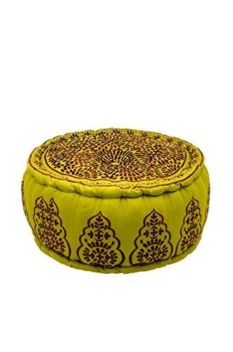 Orientalischer runder Pouf aus Baumwolle 50cm