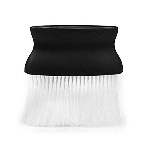 homiki Balais à Cou Brosse de Nettoyage pour Coiffure en Plastique Noir et Blanc pour Le Salon de Coiffure Brush Plumeau