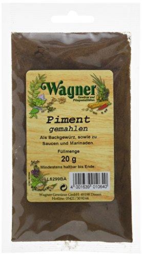Wagner Gewürze Piment gemahlen, 4er Pack (4 x 20 g)