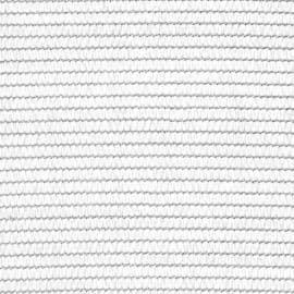 Rete Ombreggiante Frangivista Frangisole ad Alta schermatura (90%) di Colore Verde o Bianco provvista di cimosa con asole Ideale per Giardini, parcheggi, balconi (4x50 MT, Bianco)