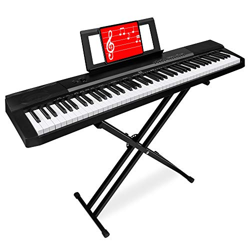Best Choice Products 88-Key Full Size Digital Piano for All Experience Levels w/Semi-Weighted Keys, Stand, Sustain Pedal