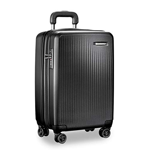 Sympatico International Carry-On Expandable Spinner, 53cm, 53 litres, Black