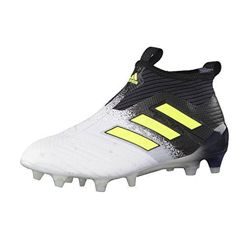adidas Unisex Kinder Ace 17+ Purecontrol Fg J Fitnessschuhe, Weiß, gelb, schwarz, 36 2/3 EU
