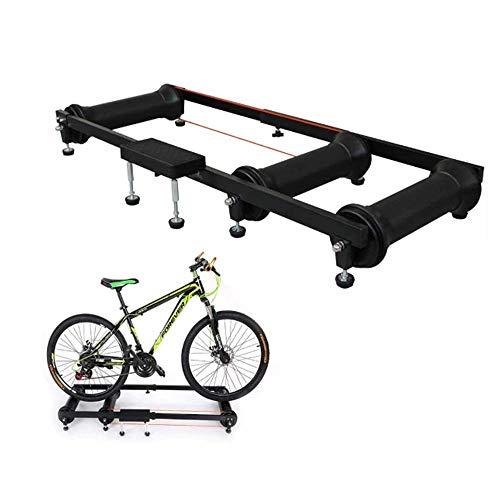 ZXYY SerBlue Bicicleta Entrenador Plegable Bicicleta Rodillo Ciclismo MTB Bicicleta Estacion de Ejercicio Resistencia Ejercicio Fitness Interior Máquina Plataforma de Entrenamiento para, negro
