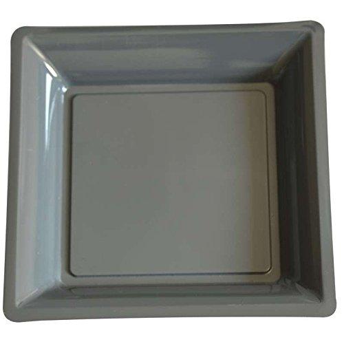 12 Teller, quadratisch, Schiefer, 305 x 305 mm