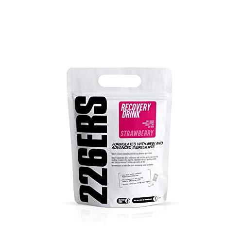 226ERS Recovery Drink   Integratore per il Recupero a base di Proteine Whey, Creatina, Carboidrati, Trigliceridi e L-Arginina, Senza Glutine, Fragola - 500 gr
