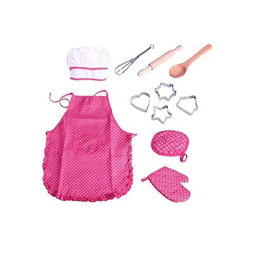 tJexePYK Delantal de los niños, cocinar, Hornear, Actividades de la Comunidad, Artes y la artesanía Pintura Actividades, Delantal de los niños, de los niños (un Pack de 11) (Rosa)