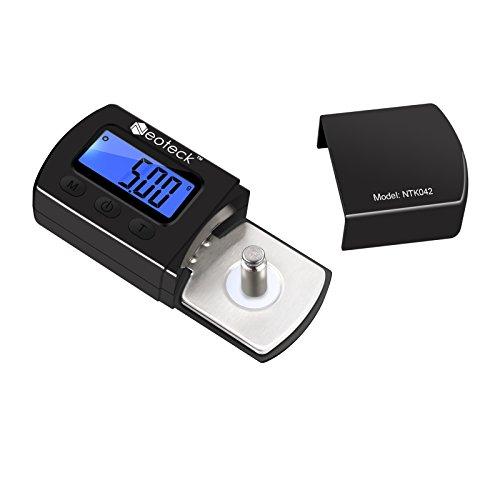 Neoteck Digitale Tonarmwaage Digital Turntable Stylus Force Scale Gauge Tester Prüfvorrichtung der Kraft vom Plattenspieler 0.01g LCD Hintergrundbeleuchtung für Tonarm des Plattenspielers- Schwarz
