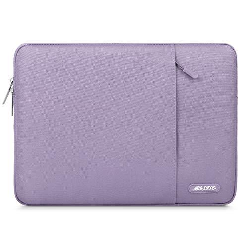 MOSISO Laptop Sleeve Hülle Kompatibel mit 13-13,3 Zoll MacBook Pro, MacBook Air, Notebook Computer, Polyester Vertikale Stil Laptoptasche, Helles Lila