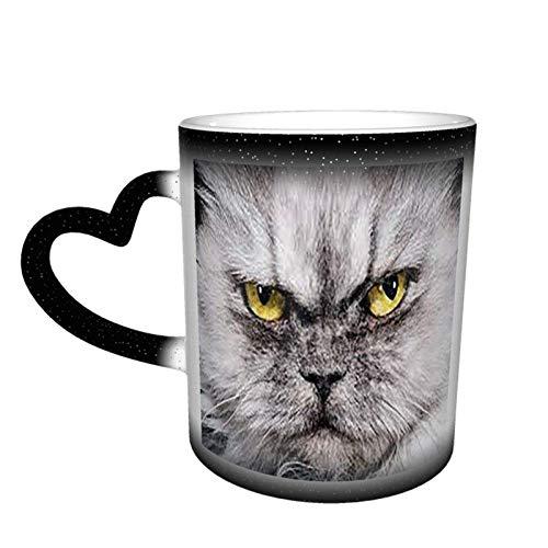 Garfield - Taza de café con diseño cambiante de color, cerámica sensible al calor