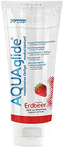 Joydivision AQUAglide Erdbeer Gleitgel, 100 ml