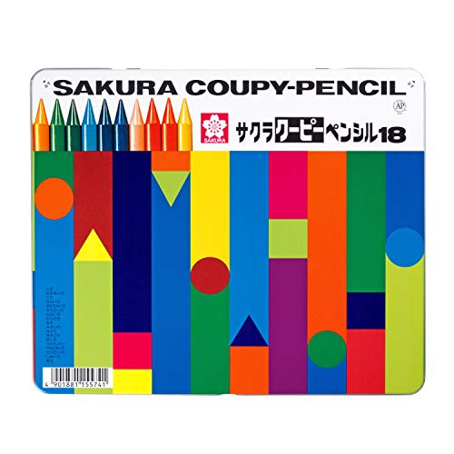 SAKURA COUPY-PENCIL 18 colors colored pencil Can case FY18 (japan import)