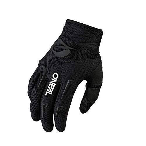 O'NEAL | Fahrrad- & Motocross-Handschuhe | MX MTB DH FR Downhill Freeride | Langlebige, Flexible Materialien, belüftete Handinnenfäche | Element Glove | Herren | Schwarz Weiß | Größe M