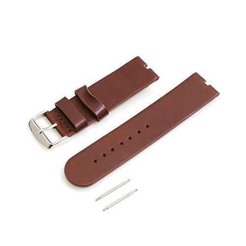 Systeem-S Vervangende armband Wrist Band Wissel Lederen Horlogeband voor Motorola Moto 360 SmartWatch, 18 cm, Brown