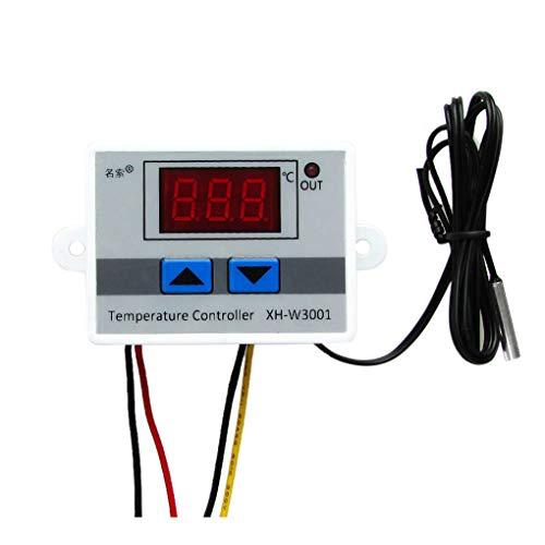 rongweiwang Controlador de Temperatura W3001-50 a 110 Grados Calefacción/refrigeración Interruptor de Control de Temperatura Termostato DC12V