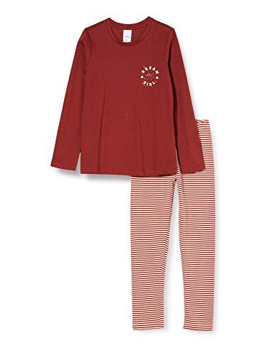 s.Oliver Mädchen Schlafanzug Ruby Wine Pyjamaset, Rot, 140