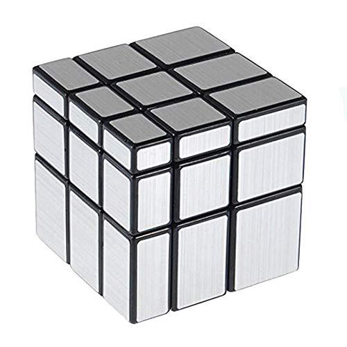 RENFEIYUAN Mirror Rubix 3x3 Mirror Bloques Silver Smooth 3D para niños MA Juguete Juega Juegos Cerebros Easy Turning Training S Regalos para niños Niñas Adultos Rubik Cubo