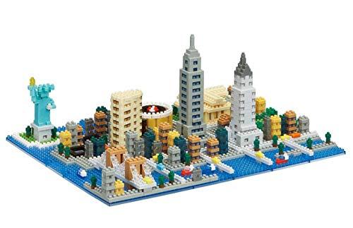 Modbrix Juego de construcción de bloques de construcción de Nueva York City 1531 Nano bloques de construcción