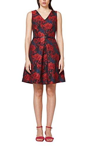 ESPRIT Collection Damen 078EO1E003 Kleid, Rot (Dark Red 610), 40