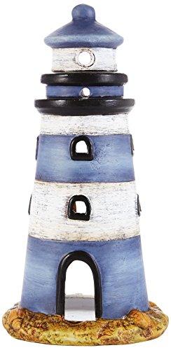 HEITMANN DECO - Windlicht Leuchturm aus Keramik - sehr schöne Maritime Deko - ALS Tischdeko und für Wohnzimmer