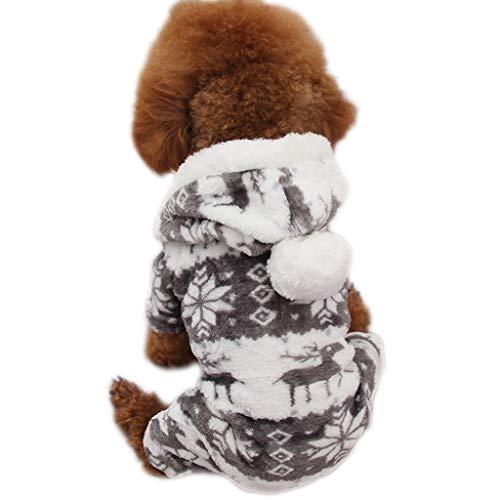 Hondenkleding voor huisdieren, winterdikking, viervoetige puppy's koraal, velvet, herfst, pyjama's, jurken Medium B