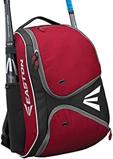 EASTON E210BP Bat & Equipment Backpack Bag | Baseball Softball | 2020 | 2 Bat Sleeves | Smart Gear Storage Shelf | Vented Shoe Pocket | Valuables Pocket | Rubberized Zipper Pulls | Fence Hook