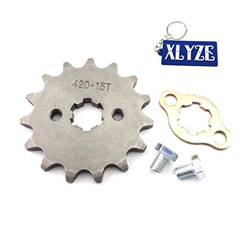 XLYZE 420 15 Zähne Kettenrad vorne 17 mm für ATV 50cc 70cc 90cc 110cc 125cc Pit Dirt Bike YCF SSR