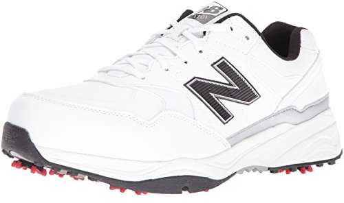 New Balance Men's nbg1701 Golf Shoe, White/Black, 8 2E US