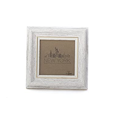 4x4 Picture Frame White/Gold - Mount/Desktop Display, Instagram Prints Frames by EcoHome