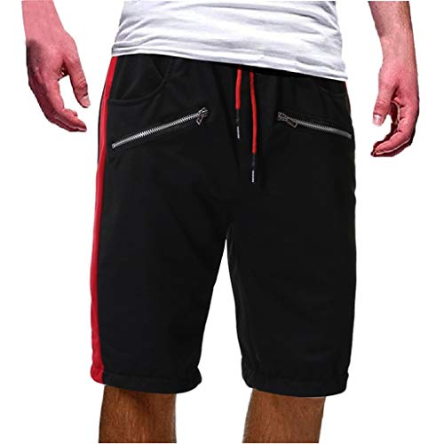 Herren Reißverschlusstasche Baumwolle Multi Pocket Overalls Shorts Fashion Pant Zipper Multi Pocket Shorts Dark Gray Black Red Gray Navy M/L/XL/2XL