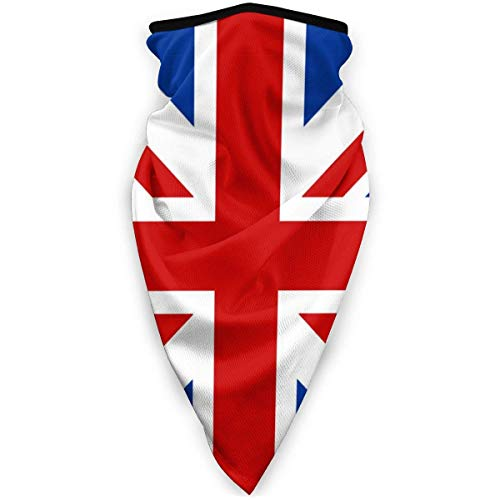 RUIN United Kingdom UK Flag Face Scarf Sports Windproof Bandana Face Face Scarf Neck Gaiter Headband, Balaclava Black