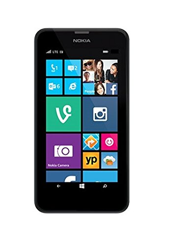 Nokia Lumia 635 - Smartphone libre Windows Phone 8.1 (pantalla 4.5-Inch, cámara 5 Mp, 8 GB, Quad-Core 1.2 GHz, 512 MB RAM), negro [importado]