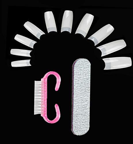 600 Stück Kunstnägel Falsche Fake Acryl Nägel Tipps Künstliche Fingernägel Natürliche Gefälschte Nagel Tipps für Damen Mädchen
