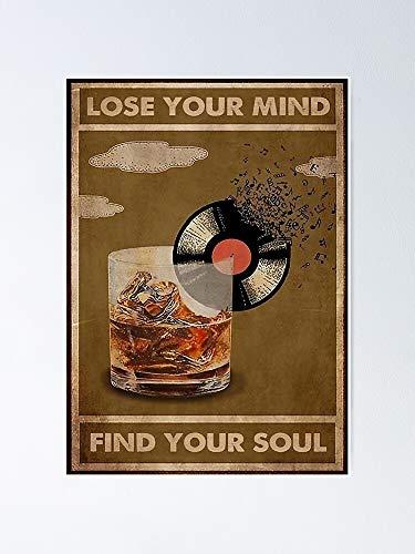Situen Póster de My Drinks Lose Your Mind Find Soul – para decoración de oficina, dormitorio, aula, gimnasia y bestias lgbt, vacaciones, gran arte de pared inspirador