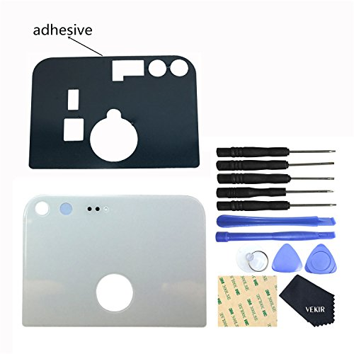 VEKIR Back Glass Camera Lens Replacement + Tape for HTC Google Pixel 5.0 Inch(White)