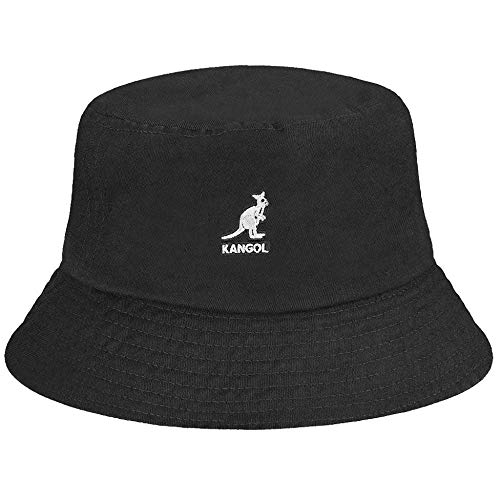 Kangol Washed Bucket Hat Black, X-Large