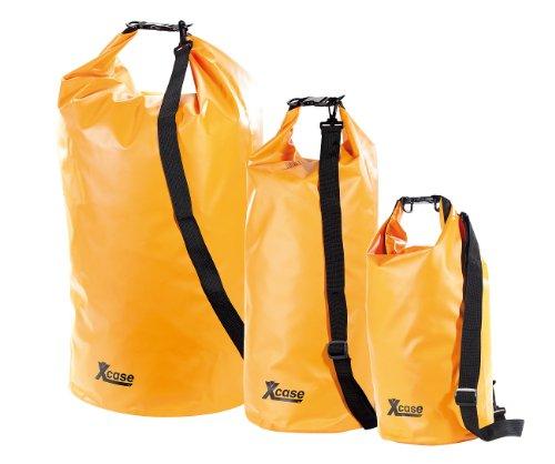 Xcase Drybags: Urlauber-Set wasserdichte Packsäcke 16/25/70 Liter, orange (Roll Top Sack)