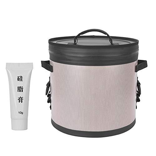 BiuZi Diepvrieszak, 1 stuks, 17 liter, draagbare camping-koeltas voor thermische food, lunch, koelbox, outdoorvissen grijs