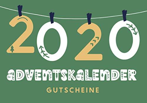 Adventskalender 2020 - Gutscheine: DIY Adventskalender zum Befüllen als Gutscheinbuch, cooles Geschenk für Frauen, Männer, Geschenkidee für Paare