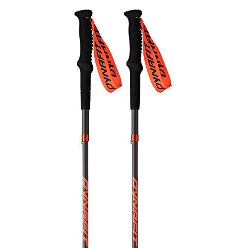 Dynafit Transalper Pro Carbon Trail Running Pole 130cm, Black/Orange (Pair)