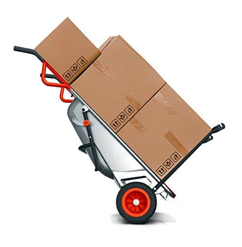 WORX WG050 Aerocart Multifunktions-Schubkarre – 8-in-1 Funktion: Sackkarre mit Vollgummireifen, Gartenkarre, Tragehilfe, Müllbeutelhalter uvm. - 3