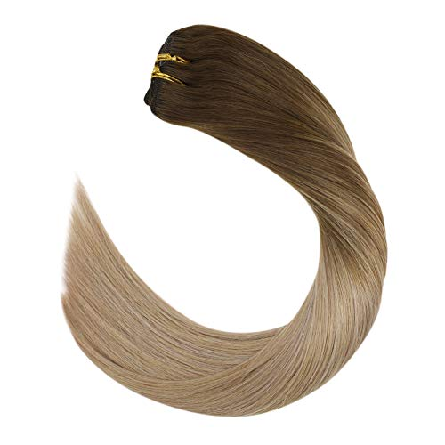Ugeat Balayage Extension Clip Remy Naturales Lisas