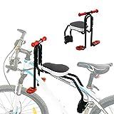 TAIWO Bicicleta Niños Niños Asiento Delantero Carrier de Bicicletas Silla de Seguridad para bebés, pasamanos Antideslizantes + Pedal Plegable