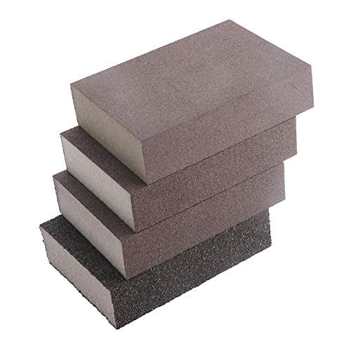 GFHDGTH polijstspons voor droge vloeren 100 mm x 70 mm x 26 mm, schuurgereedschap schuurpapier blok 120180320800 korrel, Rugueux