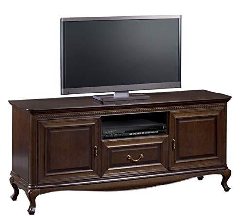 Casa Padrino Luxus Jugendstil Sideboard Dunkelbraun 152 x 45,6 x H. 68,2 cm - Fernsehschrank mit 2 Türen und Schublade - Wohnzimmermöbel