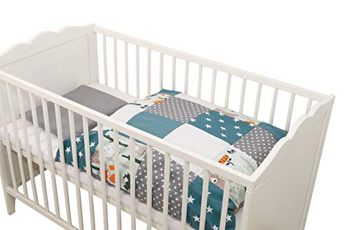 copripiumino 80x80 Completo di biancheria da letto per neonato ULLENBOOM ® foresta